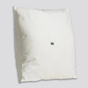 Queen of Spades Crown 02 Burlap Throw Pillow
