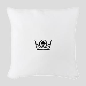 Queen of Spades Crown 02 Woven Throw Pillow