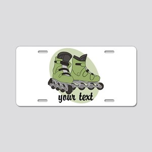 Personalized Rollerblade Aluminum License Plate