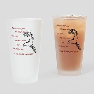 Zombie Love Drinking Glass