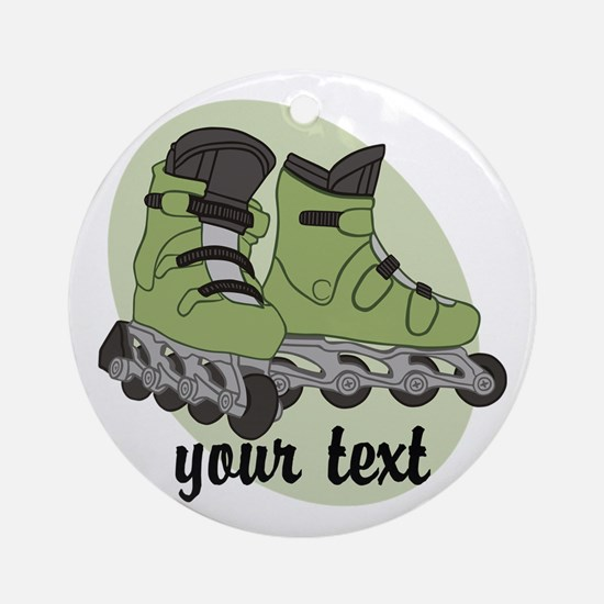 Personalized Rollerblade Ornament (Round)