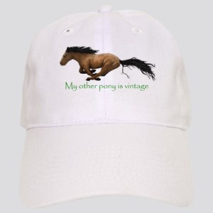 my other pony is vintage Baseball Cap