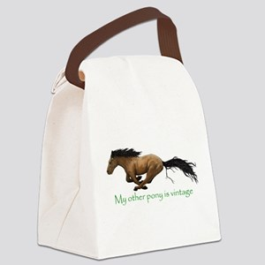 my other pony is vintage Canvas Lunch Bag
