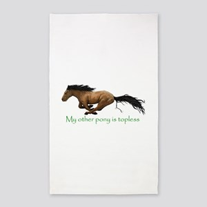 my other pony is topless Area Rug