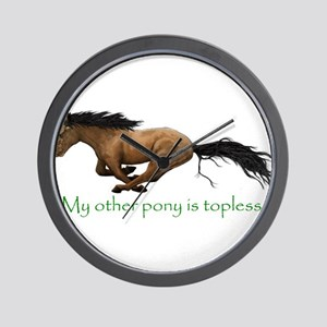 my other pony is topless Wall Clock