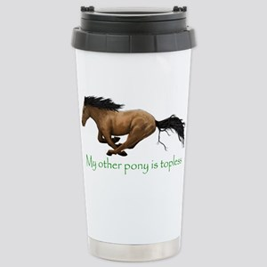 my other pony is topless Travel Mug
