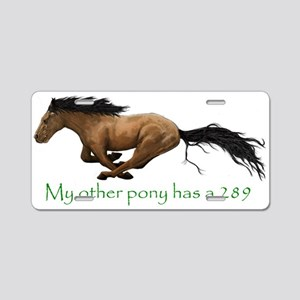 my other pony has a 289 Aluminum License Plate