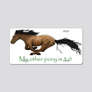 my other pony is 5.0 Aluminum License Plate