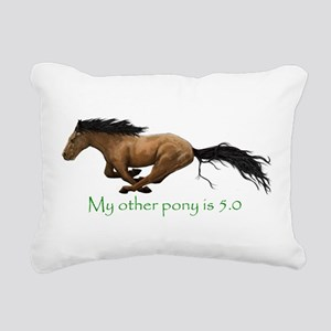 my other pony is 5.0 Rectangular Canvas Pillow