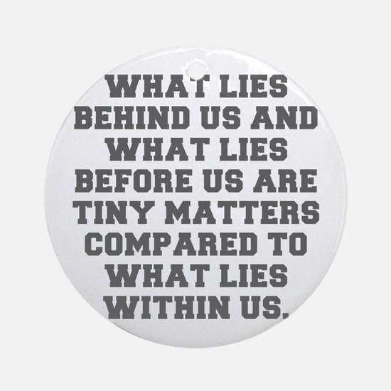 WHAT LIES BEHIND US AND WHAT LIES BEFORE US ARE TI