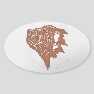 bear tracks Sticker