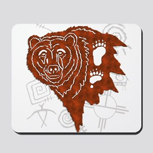 bear tracks Mousepad