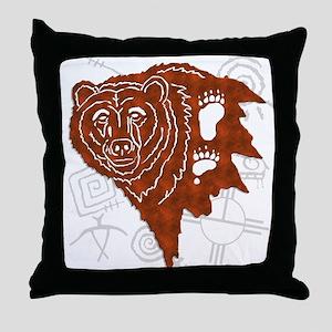 bear tracks Throw Pillow