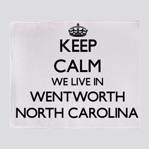 Keep calm we live in Wentworth North Throw Blanket
