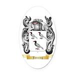 Janning Oval Car Magnet