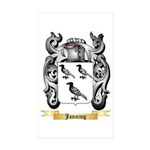 Janning Sticker (Rectangle 50 pk)