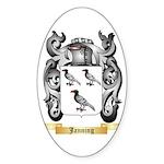 Janning Sticker (Oval 50 pk)