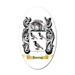 Janning 20x12 Oval Wall Decal