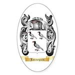 Jannequin Sticker (Oval 10 pk)