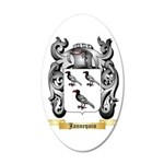 Jannequin 20x12 Oval Wall Decal