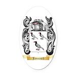 Jannasch Oval Car Magnet