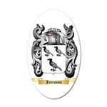Janisson 20x12 Oval Wall Decal