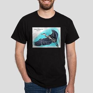 Gray Heron Dark T-Shirt