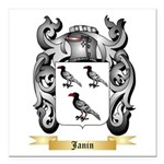 Janin Square Car Magnet 3