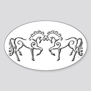 Celtic Horses Sticker (Oval)