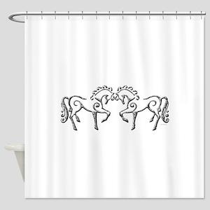 Celtic Horses Shower Curtain