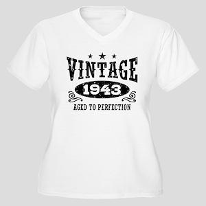 Vintage 1943 Women's Plus Size V-Neck T-Shirt