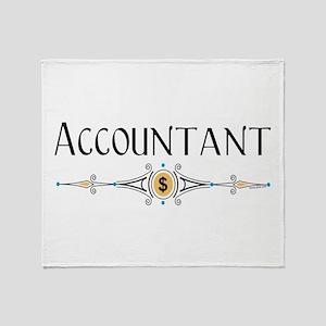 Accountant Decorative Line Throw Blanket