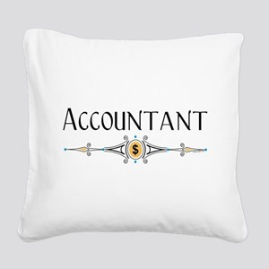 Accountant Decorative Line Square Canvas Pillow