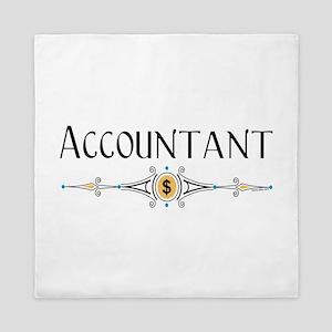 Accountant Decorative Line Queen Duvet