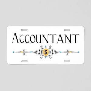 Accountant Decorative Line Aluminum License Plate