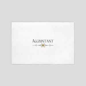 Accountant Decorative Line 4' x 6' Rug