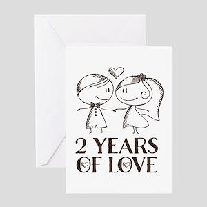 2 year anniversary greeting cards cafepress