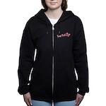 Personalizable Pink Butterfly Women's Zip Hoodie