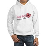 Personalizable Pink Butterfly Hoodie