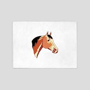 BUCKSKIN QUARTER HORSE 5'x7'Area Rug