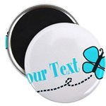 Personalizable Teal and Black Butterfly Magnets