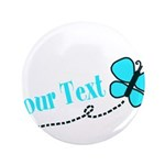 Personalizable Teal and Black Butterfly 3.5