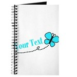 Personalizable Teal and Black Butterfly Journal