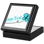 Personalizable Teal and Black Butterfly Keepsake B