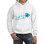Personalizable Teal and Black Butterfly Hoodie