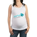 Personalizable Teal and Black Butterfly Maternity