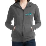 Personalizable Teal and Black Butterfly Women's Zi