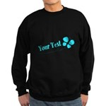 Personalizable Teal and Black Butterfly Sweatshirt