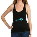 Personalizable Teal and Black Butterfly Racerback