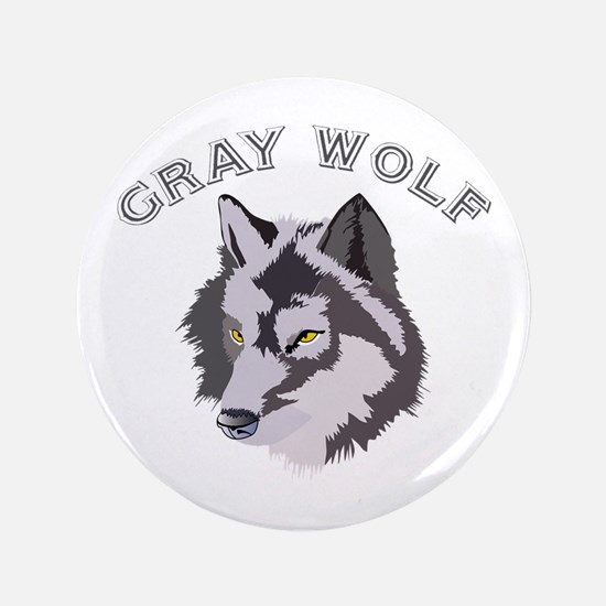 "Gray Wolf 3.5"" Button"